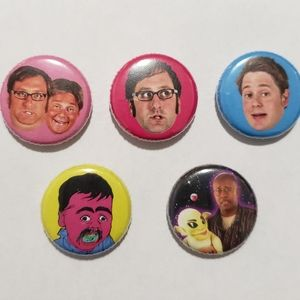 3/$25 Lot of 5 Tim and Eric Awesome Show Pins